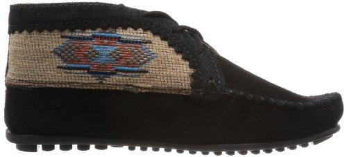 Minnetonka El Paso Ankle Boot 570 - Botines Desert de ante para mujer Negro