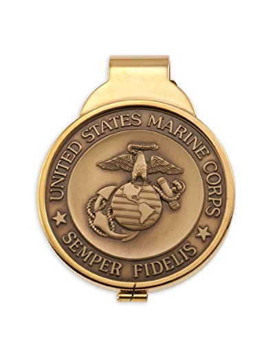 The Difference World Coin Jewelry Marine Corp Money Clip, United States Marine Corp Gifts, (# MBUM)