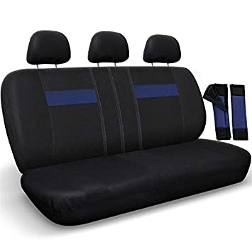 Superb Motorup America Mesh Auto Bench Seat Cover Full Set Fits Select Vehicles Car Truck Van Suv Newly Designed Blue Black Short Links Chair Design For Home Short Linksinfo