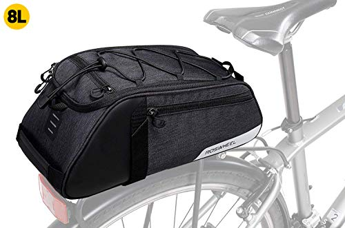 Great factory Bike Bag Waterproof Bike Trunk Bag,(for Bicycle Cargo Rack Saddle Bag Shoulder Bag Laptop Pannier Rack Bicycle Bag Professional Cycling Accessories)