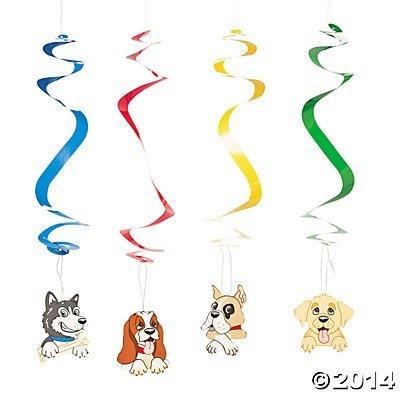 Birthday Puppy Dog Hanging Swirls