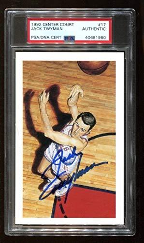 Jack Twyman Autographed Signed 1992 Center Court HOF Postcard Autographed Signed Royals PSA/DNA Authentic
