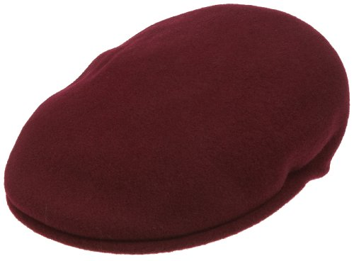 Kangol Men's Wool 504 Flat Cap, Wine, X-Large -