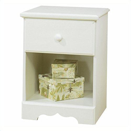South Shore Summer Breeze Kids Full Wood Bookcase Bed 3 Piece Bedroom Set in White Wash