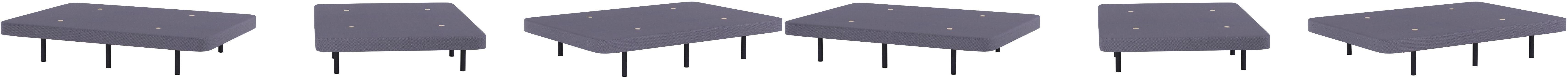 HOGAR24 Base Tapizada con 5 Barras Transversales y Tejido 3D Color Gris + 6 Patas de Metal 32cm, 135x190cm