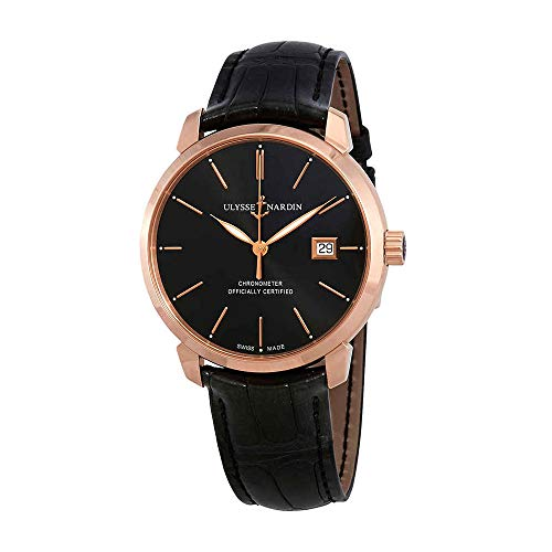 Ulysse Nardin Classic Classico Automatic Black Dial 18kt Rose Gold Men's Watch 8152-111-2/92