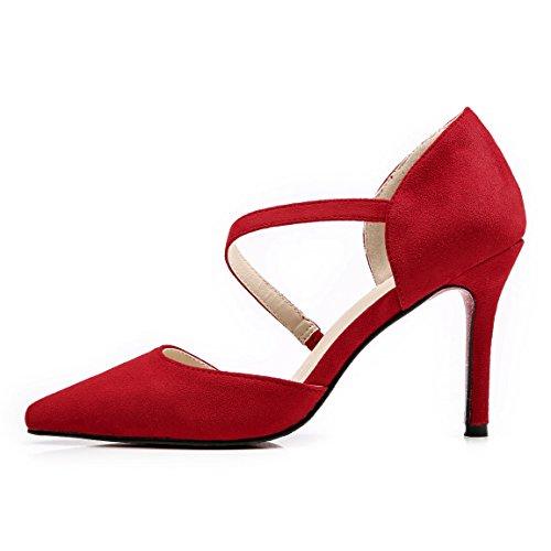 Inconnu Femme Talons Hauts Escarpins - Chaussure Pointue Fermé Résistant Sandale Stiletto Aiguille Escarpin Rouge Cs7kojA