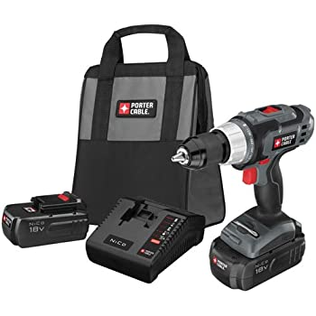 PORTER-CABLE PC180DK-2 18-Volt NiCd Drill/Driver Kit