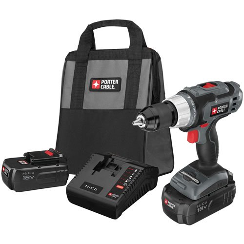 Cheap PORTER-CABLE PC180DK-2 18-Volt NiCd Drill/Driver Kit