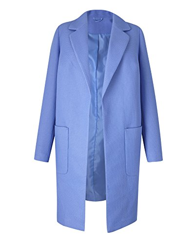 Cornflower Coat Simply Blue Waffle Textured Womens Be rUXw1XI
