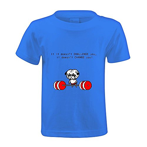 If It Doesn T Challenge You Change Unisex Crew Neck T-shirt Blue
