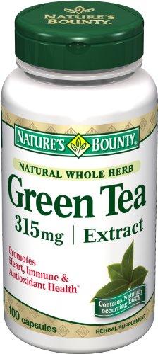 Nature Extrait de Thé Vert Bounty, 315mg, 100 Capsules (pack de 2)