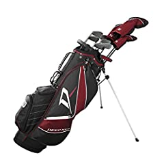 Wilson's Deep Red Tour complete golf club sets features R&D engineered components for superior performance. A complete golf club set for better golfers looking for great equipment and lightweight premium bag with Headcovers.
