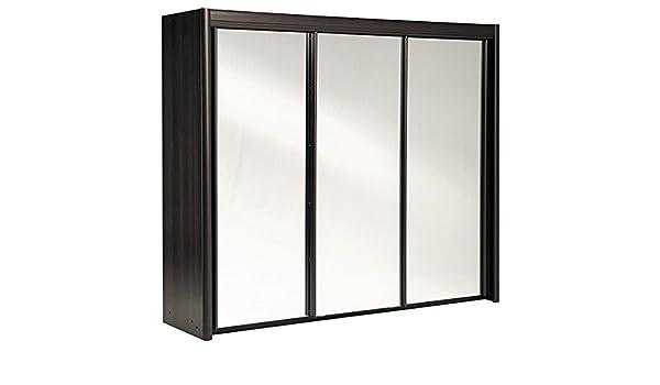 Armario de puertas correderas marrón{3} puertas B 234 cm café armario para ropa armario de puertas correderas decorativo de época: Amazon.es: Hogar