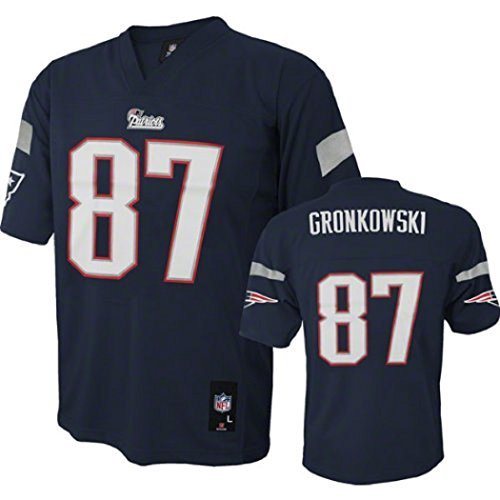 Rob Gronkowski New England Patriots NFL Youth Navy Home Mid-Tier Jersey (Youth X-Large 18-20)