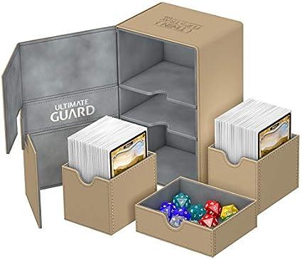 ULTIMATE GUARD XENOSKIN FLIP DECK CASE Standard Size SAND 80 MTG Card Box