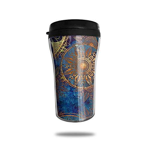 CO1fe Art Nouveau Coffee Mugs Tea Cups With Lid 5.6 Oz, Coffee Mugs Ideal For Coffee, Tea, Cold Drinks