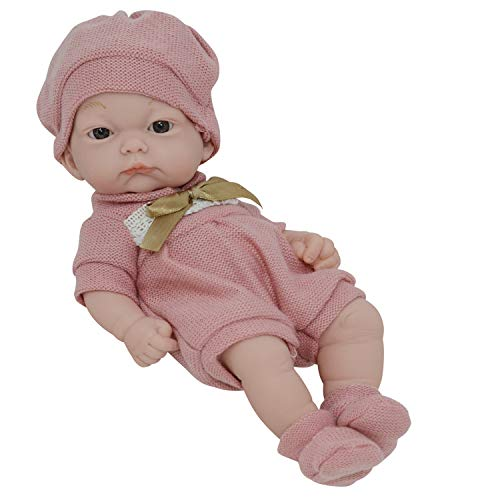 10 Inch Newborn Life Like Baby Dolls for Girls - Vinyl Body and Realistic Doll Features - Bonus Baby Doll Clothing - Love New York Baby Doll