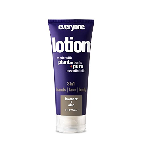 - Everyone 3-in-1 Lotion for Hands/Face/Body with Natural Herbal Extracts and Essential Oils, Lavender and Aloe, 6 Count