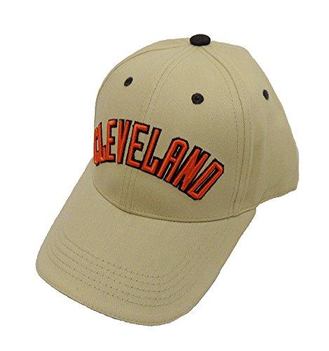 検体リス要塞NFL Cleveland Brownsカーキキャップ、オレンジ、1サイズ