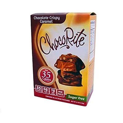 ChocoRite - Diet Bar | Chocolate Crispy Caramel | High Fiber, Low Calorie, Low Carb, Low Fat, Sugar Free, (6-Pack)