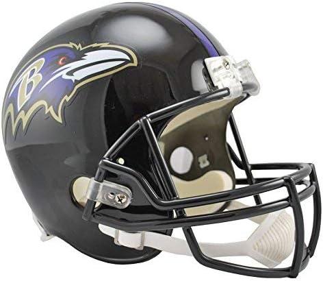 Amazon Com Riddell Baltimore Ravens Officially Licensed Vsr4 Full Size Replica Football Helmet Sports Outdoors