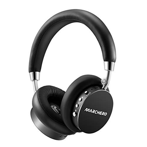 Bluetooth Active Noise Cancelling Headphones,MARCHERO 2019 New Version Wireless Over Ear Headphones with Mic/Metal Arm/Hi-Fi Deep Bass, Comfortable Protein Earpads,30H Playtime for Travel Work TV