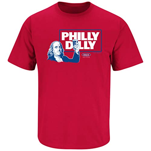 - Philadelphia Baseball Fans. Philly Dilly. Red T-Shirt (Sm-5X) (Short Sleeve, Large)