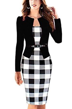 Babyonlinedress Babyonline Women Colorblock Wear to Work