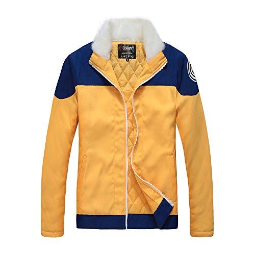 - Holran Naruto Uzumaki Naruto Cosplay Costume Thick Jacket Hoodie (Large)