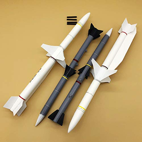 Kamas Missiles for RC Airplane EDF Jet New Flightline F16 70mm ()