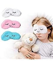 Sleep Mask for Kids with Blockout Light 3 pcs Eye Mask - Eye Cover & Travel Sleep Mask, Blindfolds for Kids, Girls, Boys