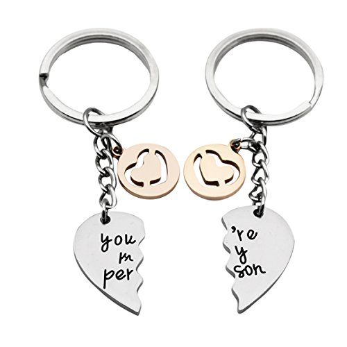 JJTZX You are My Person Grey's Anatomy Inspired Charm Expandable Stainless Steel Wire Bangle Bracelet Puzzle Piece Keychains (Broken Heart -