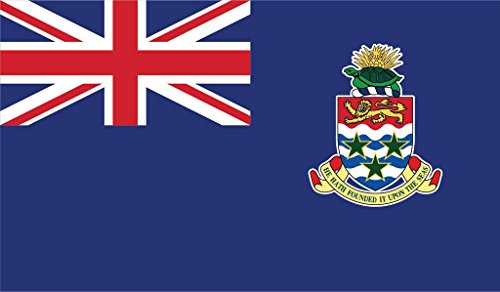 (JMM Industries Cayman Islands Flag Vinyl Decal Sticker Caymanian Car Window Bumper 2-Pack 5-Inches by 3-Inches Premium Quality UV-Resistant Laminate PDS403 )