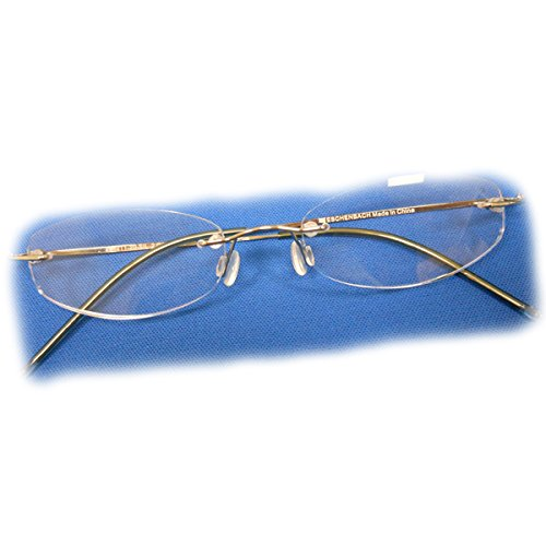 +3.5 Diopter Eschenbach Rimless Reading Glasses - Gold Oval by MAGNIFYING AIDS