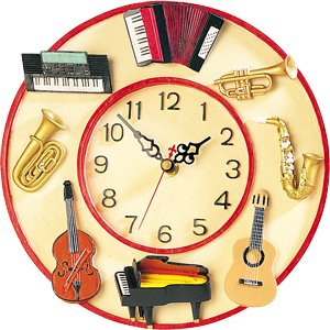 Amazoncom Musical Instrument Wall Clock Home Kitchen