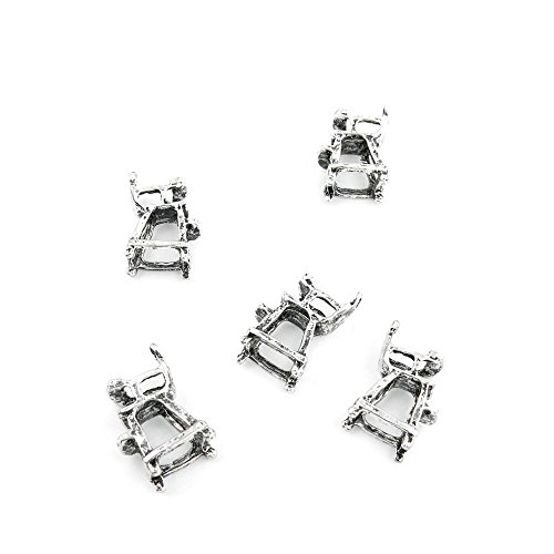 680 Pieces Antique Silver Tone Jewelry Making Charms Findings Fashion Wholesale Supplies Pendant Lots Bulk Supply 485030 Umpire Chair ()