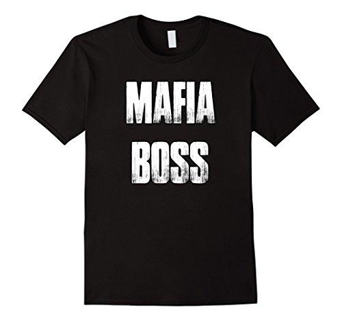 Mafia Costumes For Couples (Mens Mafia Boss 1940's Mens Gangster Costume Shirt For Halloween Large Black)