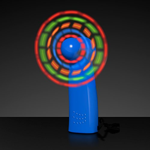 Light Up LED Mini Handheld Fan with Blue Handle]()