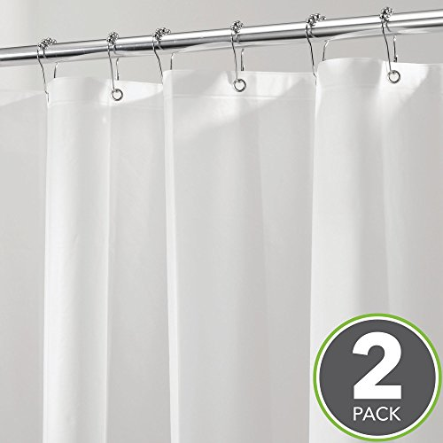 MetroDecor mDesign Long Waterproof, Mold/Mildew Resistant, Heavy Duty PEVA Shower Curtain Liner for Tall Bathroom Shower and Tub - No Odor, Chlorine Free - 3 Gauge, 72