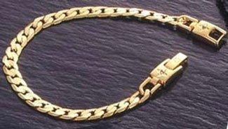 クリスチャンミッシェル 極薄8面カット喜平 ゲルマ磁気ブレスレット (ゴールド L) B00MLKX0YK