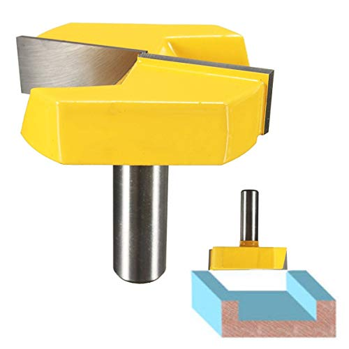 Transer 1/2 Inch Shank 2-1/2 Inch Diameter Carbide Alloy Bottom Cleaning Dado Surfacing Router Bit Woodworking Milling Cutter ()