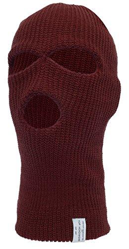 - TopHeadwear 3-Hole Ski Face Mask Balaclava, Burgundy