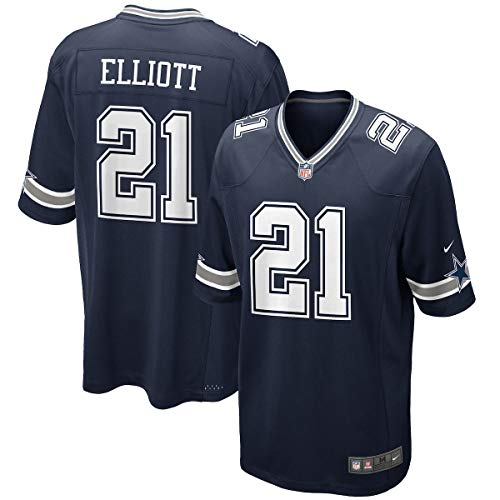 Dallas Cowboys Ezekiel Elliot Navy Game Replica Jersey (Medium, ()