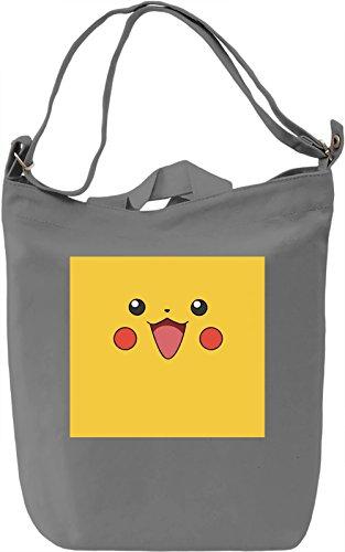 Happy Pika Borsa Giornaliera Canvas Canvas Day Bag| 100% Premium Cotton Canvas| DTG Printing|