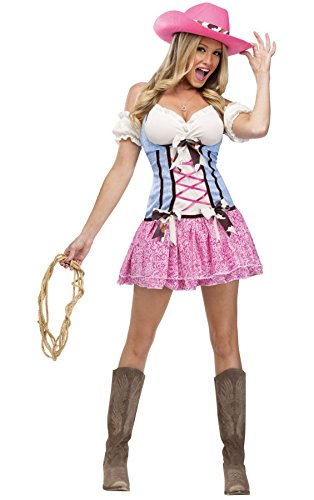 Western Rodeo Sweetie Cowgirls Adult Costume (X-Small) (Cowgirl Costume Women)