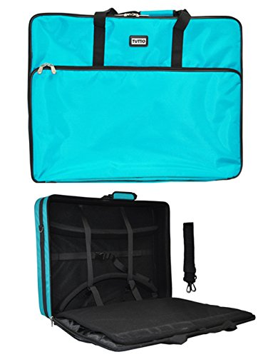 Turquoise Tutto Embroidery Project Extra Large Bag