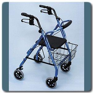 Amazon.com: Excalibur satín 4 ruedas andador de aluminio ...