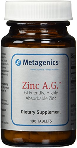 Metagenics Zinc A.G. Tablets, 180 Count Review
