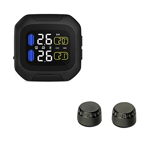 Pressure Port No (Motorcycle TPMS Tire Pressure Monitoring System with Wireless Waterproof Motorcycle TPMS USB Power LCD display KDator)